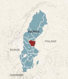 Karta över Hälsingland, Sverige